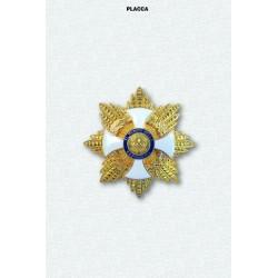 Placca OMRIGran Croce Decorata di Gran Cordone