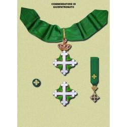 Set completo Commendatore Juspatronato SML