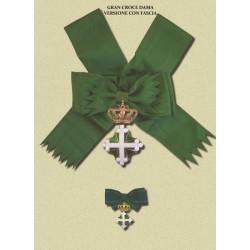 Set completo  DAMA Gran Croce SML con fascia